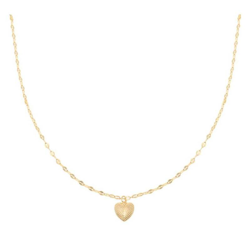 Ketting endless love goud