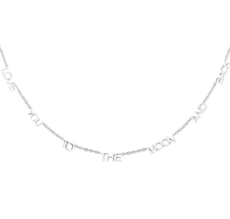 Ketting love you to the moon and back zilver