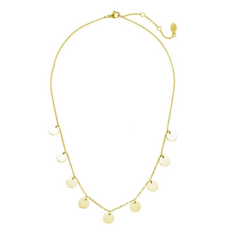 Ketting only circles goud