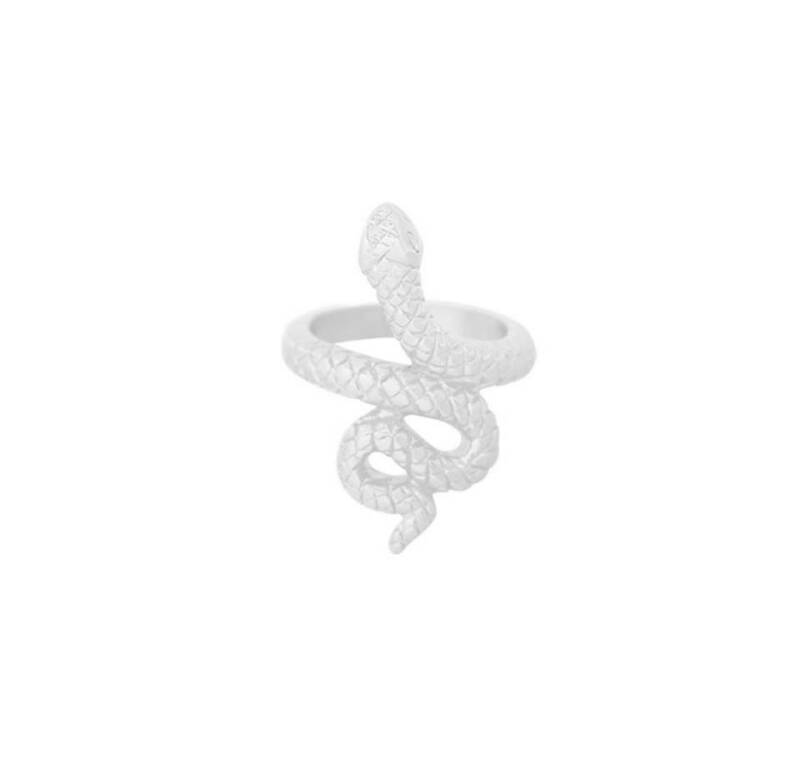 Ring flawless snake zilver
