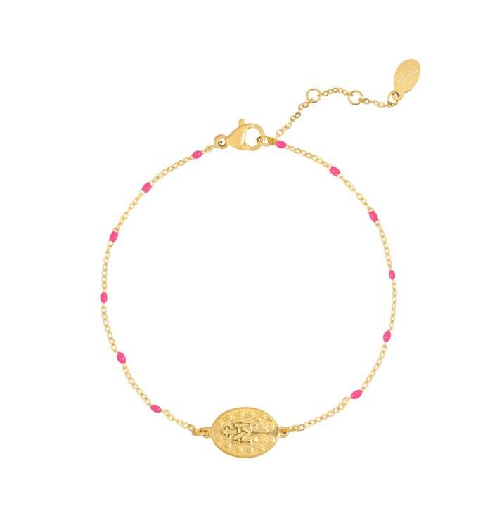 Armband holy coin roze