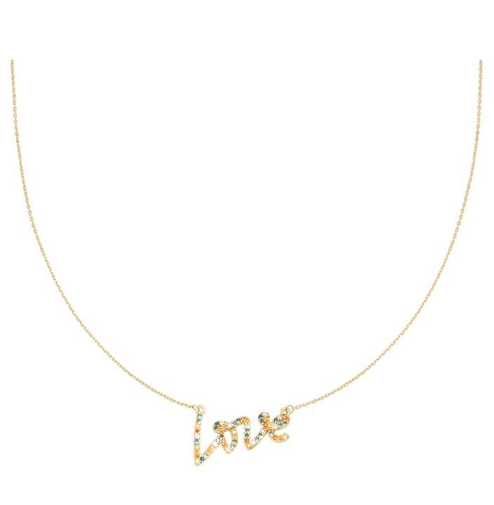Ketting colorful love goud