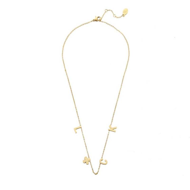Ketting luck quote goud