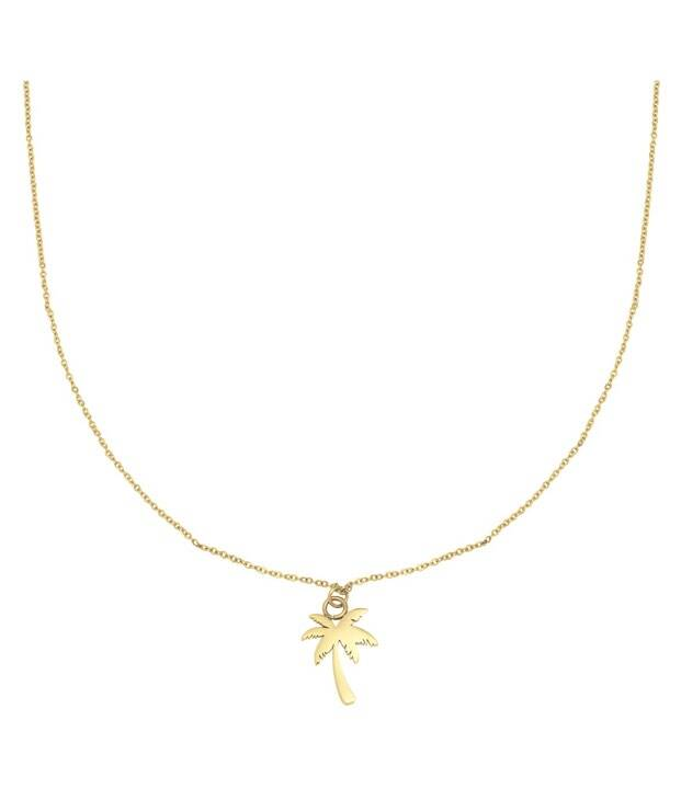 Ketting palm tree goud
