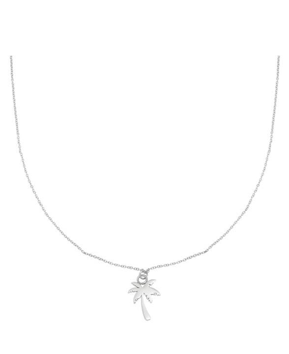 Ketting palm tree zilver