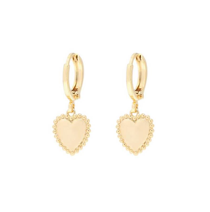 Oorbellen summer love goud