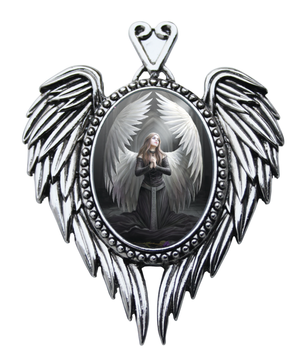 GIFTSET: Cameo van Anne Stokes, Prayer for the Fallen, Hanger met Wenskaart