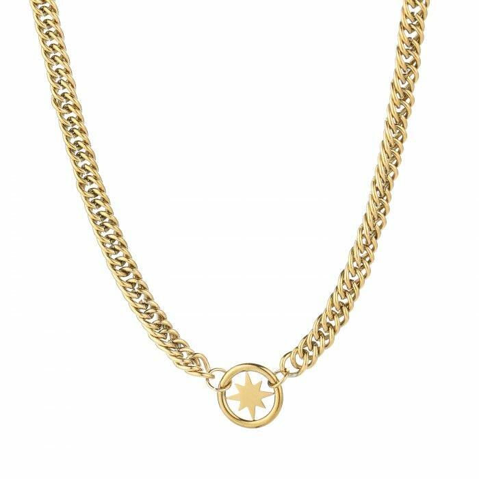 Chunky morning star necklace - GOLD