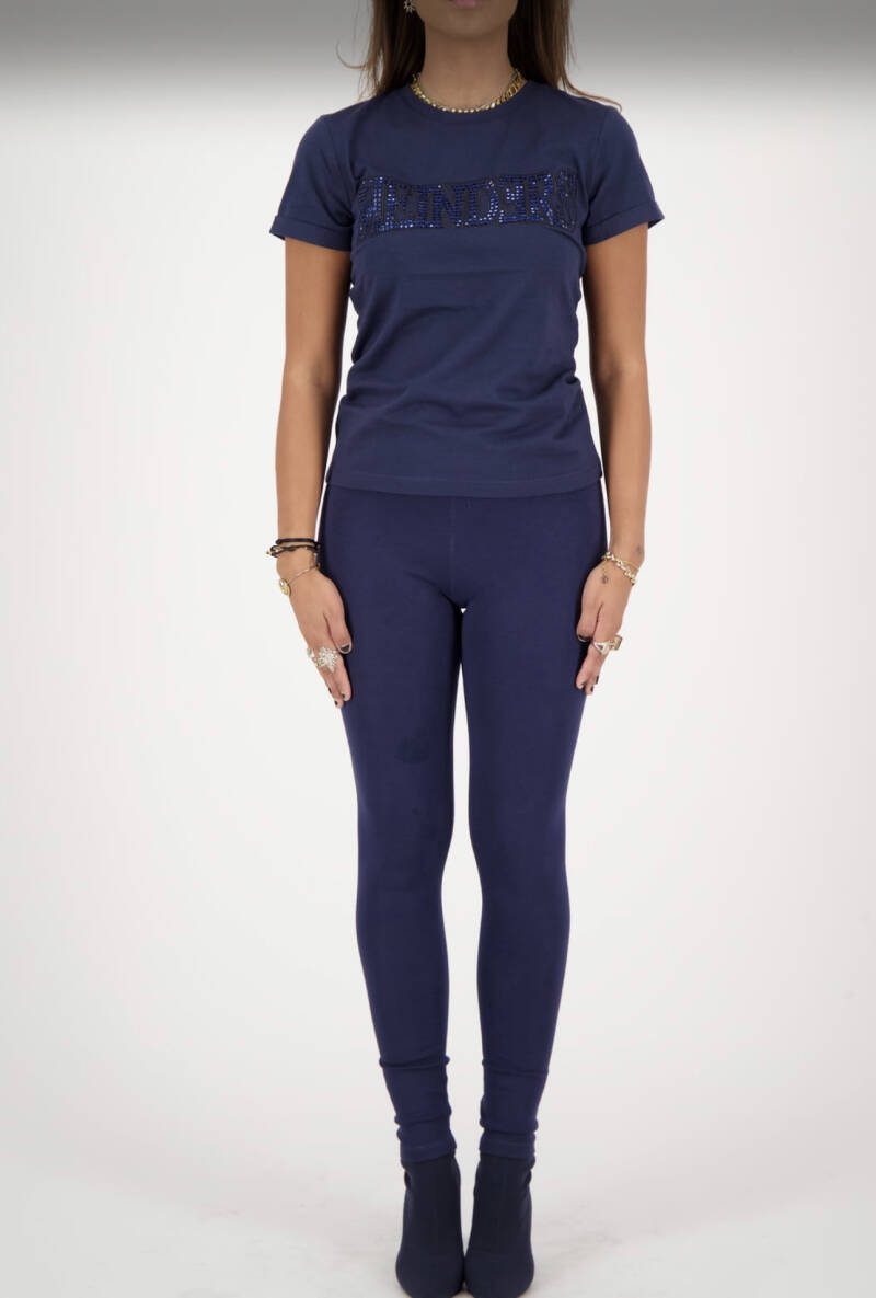 Reinders- Slim Fit Diamonds Wording - Navy
