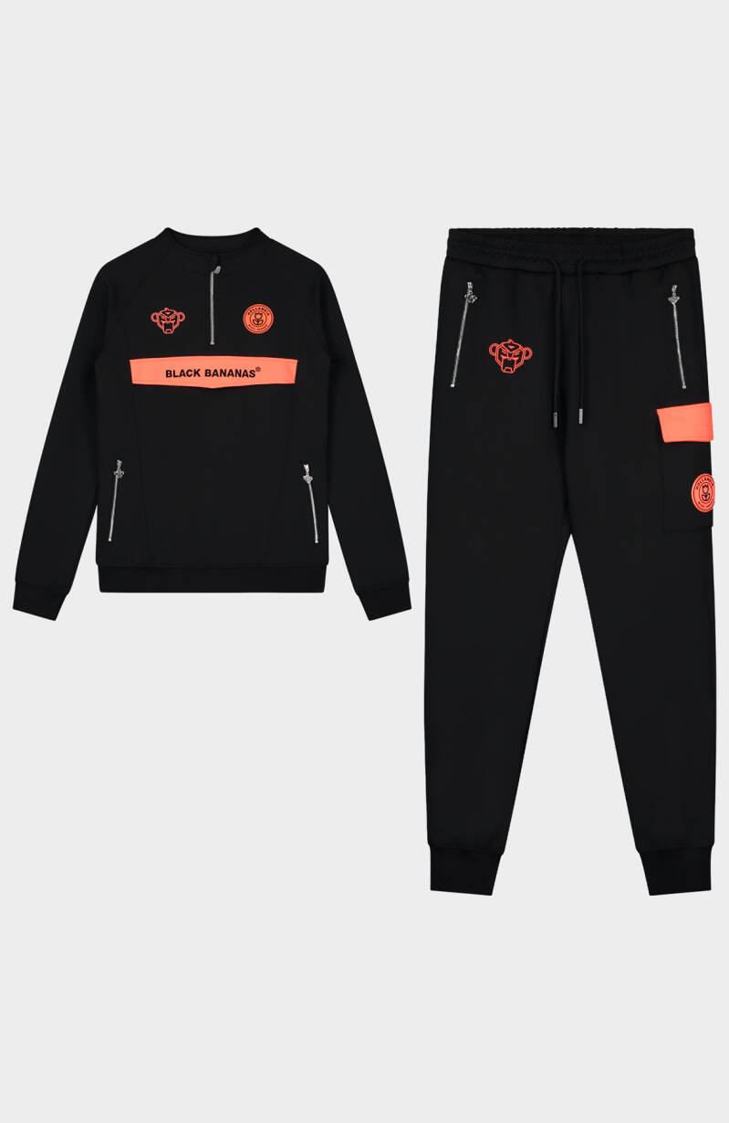 Black Bananas - Neon Tracksuit - Black/Orange