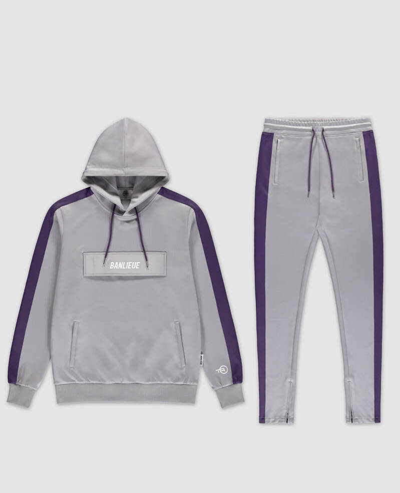 Clan De Banlieue - Tracksuit - Grey/Purple