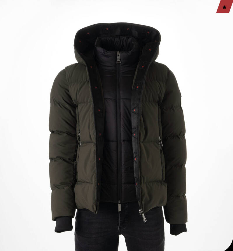 AB Lifestyle - Hooded Down Jacket - Green