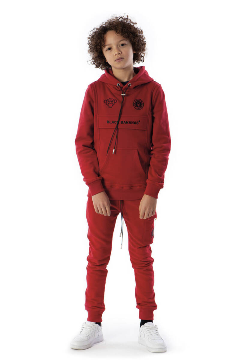 Black Bananas - Anorak Kangaroo Hoody - Red