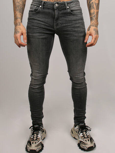 2LEGARE - NOAH 103 STRETCH JEANS - MID GREY
