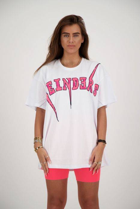 Reinders - Bolt Tee - White/ Pink