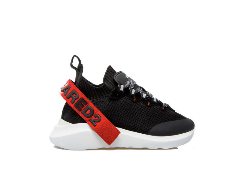 Dsquared2 - Low Top Sneaker - Black/White/Red