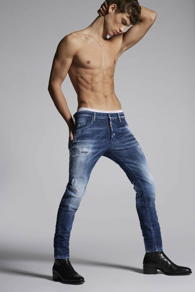 Dsquared2 - Army fade skinny dan jeans - Blue