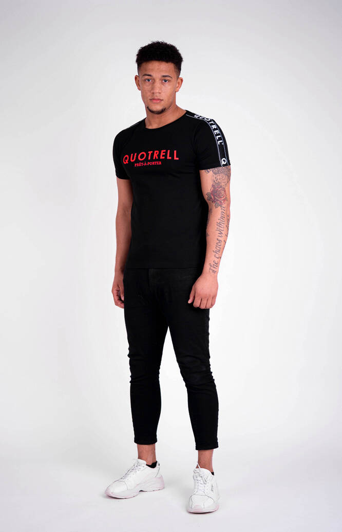 Quotrell - General Tee - Black/Red