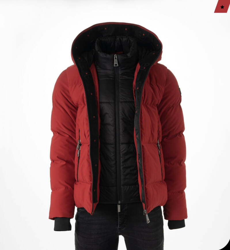 AB Lifestyle - Hooded Down Jacket - Red