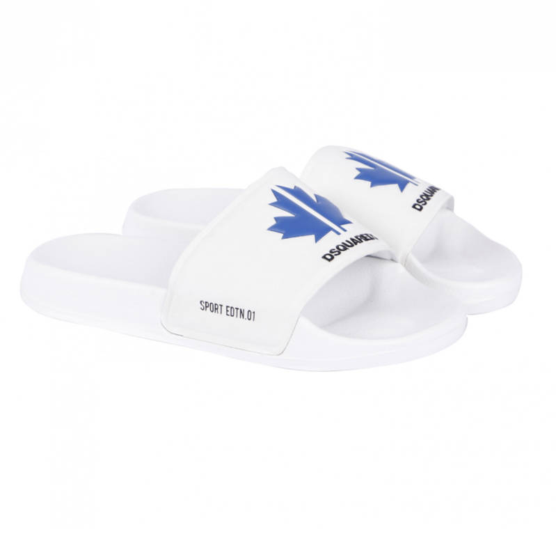 Dsquared2- Slippers - White/ Blue