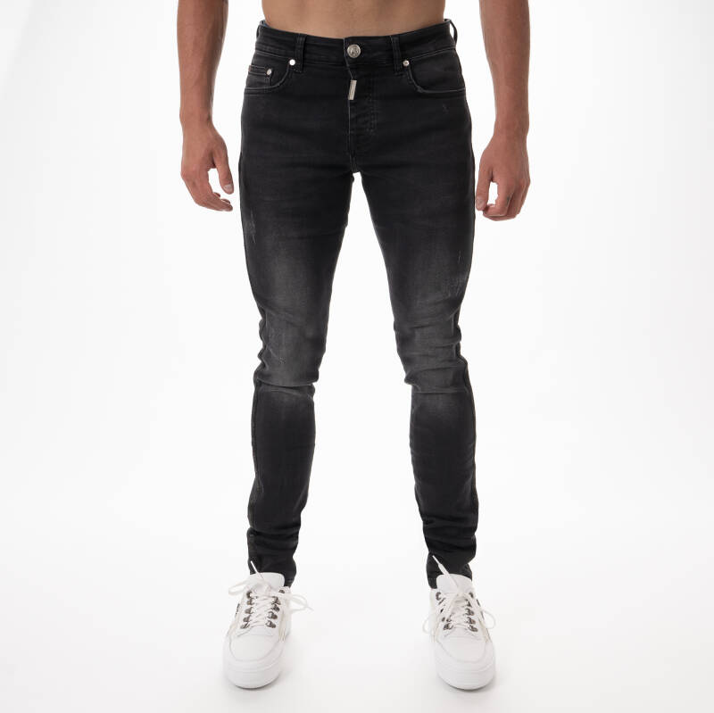AB Lifestyle - Stretch Jeans Taped - Zwart