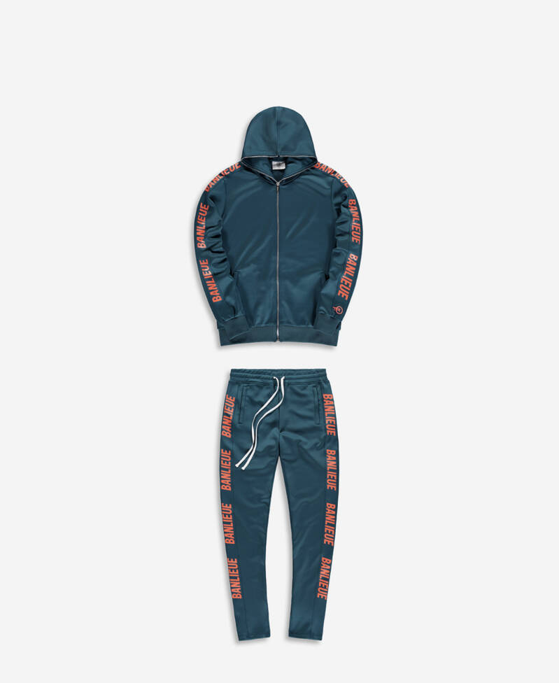 Clan De Banlieue - Tracksuit - Emerald/Orange