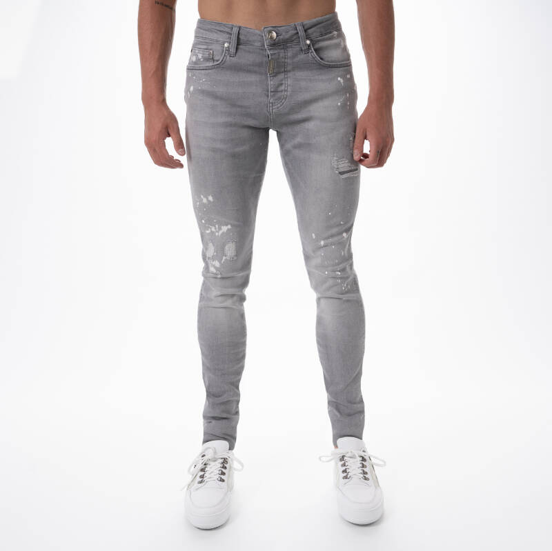 AB Lifestyle - Stretch Jeans Splash - Light Grey