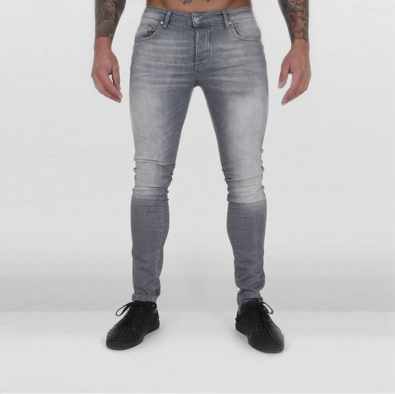 AB Lifestyle - Jeans IRON Patch - Light Grey