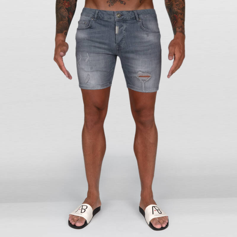 AB Lifestyle - Ab Denim Short Super Stretch - Grey