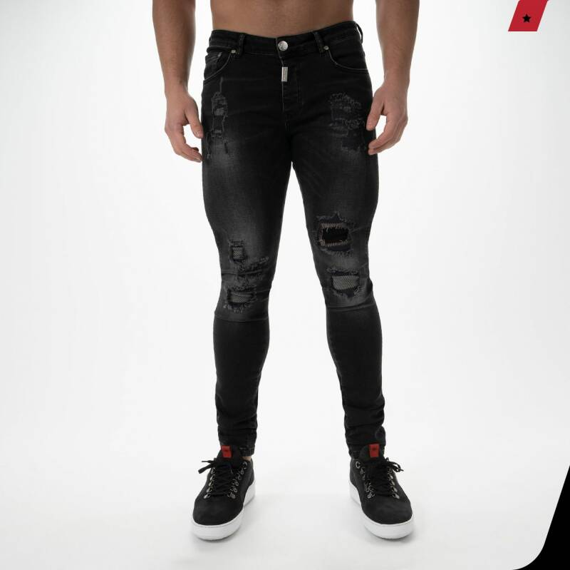 AB Lifestyle - Destroyed Jeans - Black