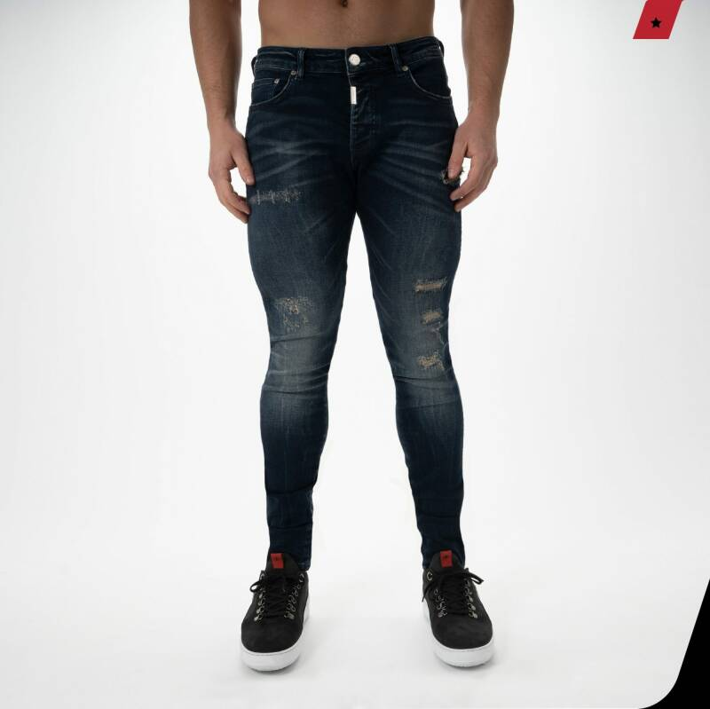 AB Lifestyle - Destroyed Jeans - Blue