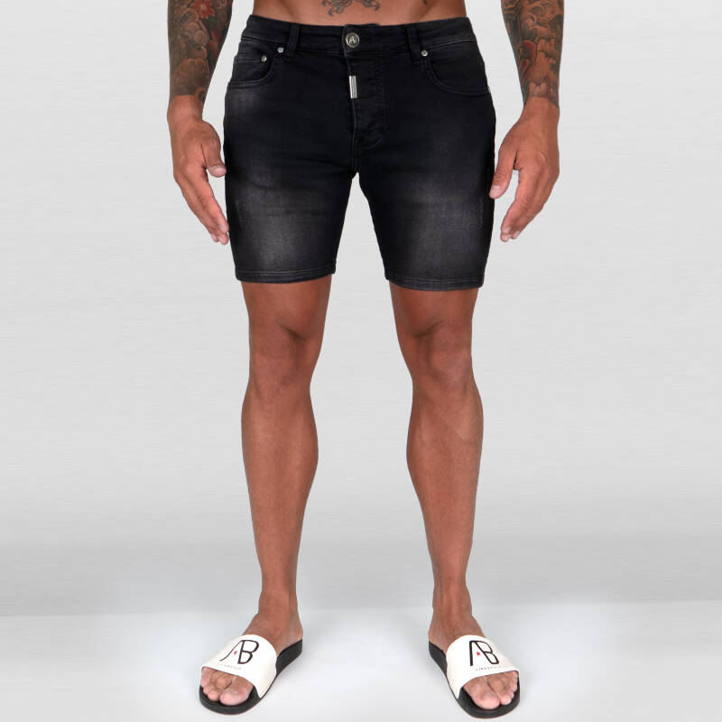 AB Lifestyle - Ab Denim Short Super Stretch - Black Stone