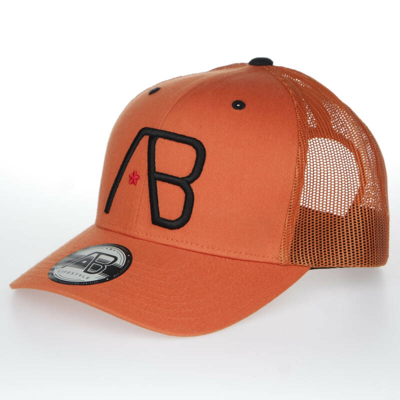 AB Cap - Orange/ Black Logo