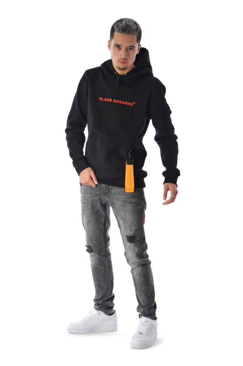 Black Bananas - Tag Hoody - Black/Orange