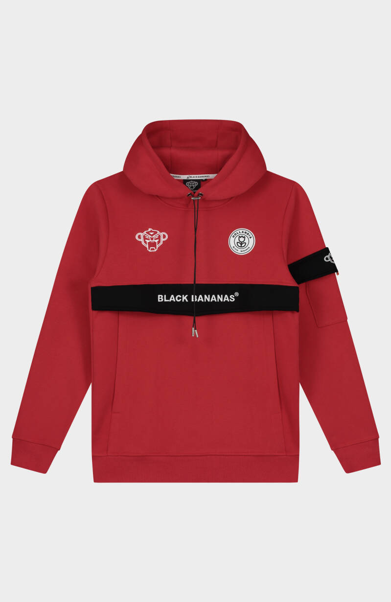 Black Bananas - Anorak Captain Hoodie - Red