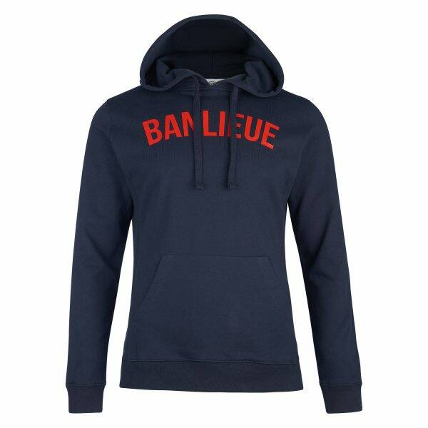 Banlieue - Arch Hoodie - Navy/ Red