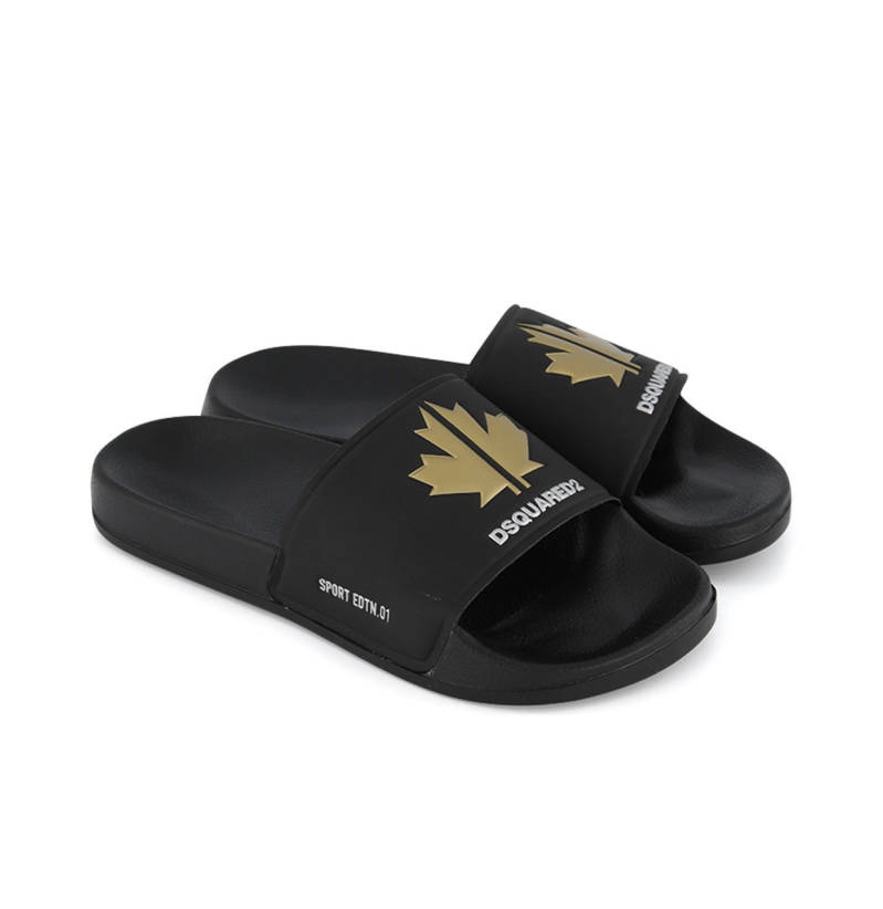 Dsquared2 - Slippers - Black/ Gold