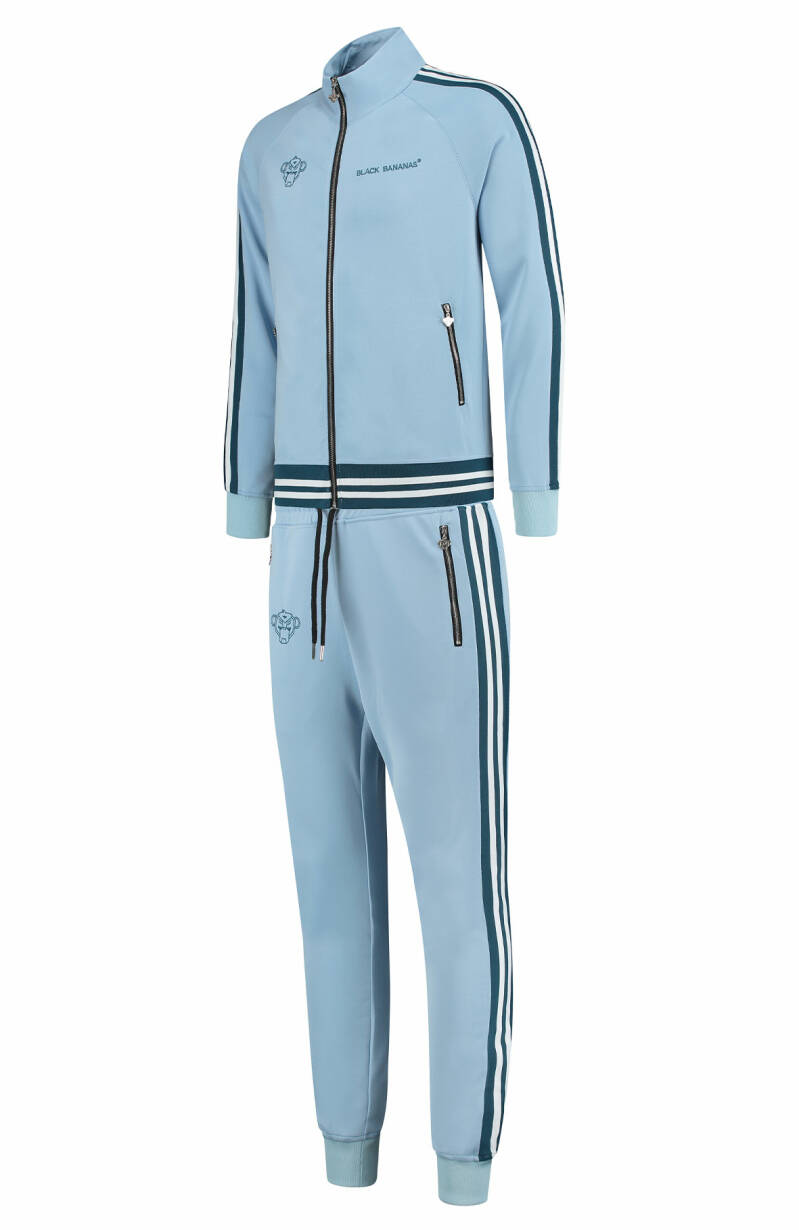 Black Bananas - Ribbed Tape Tracksuit - Light Blue