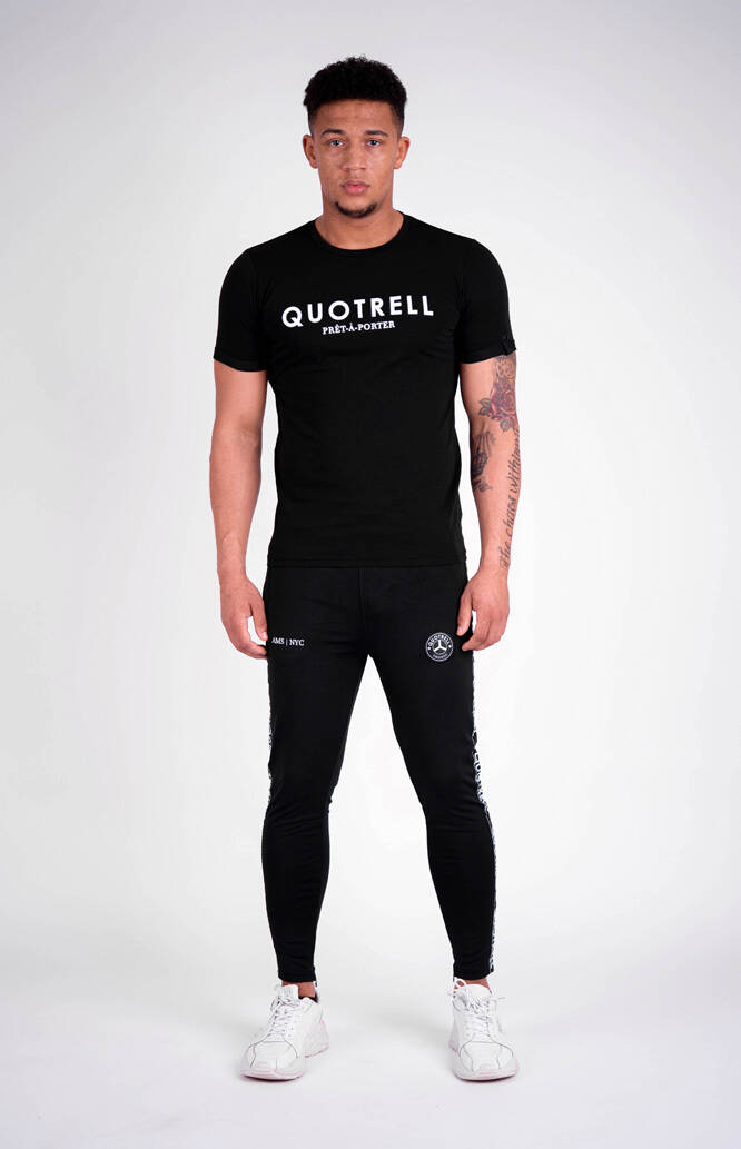 Quotrell - Basic Tee - Black/White