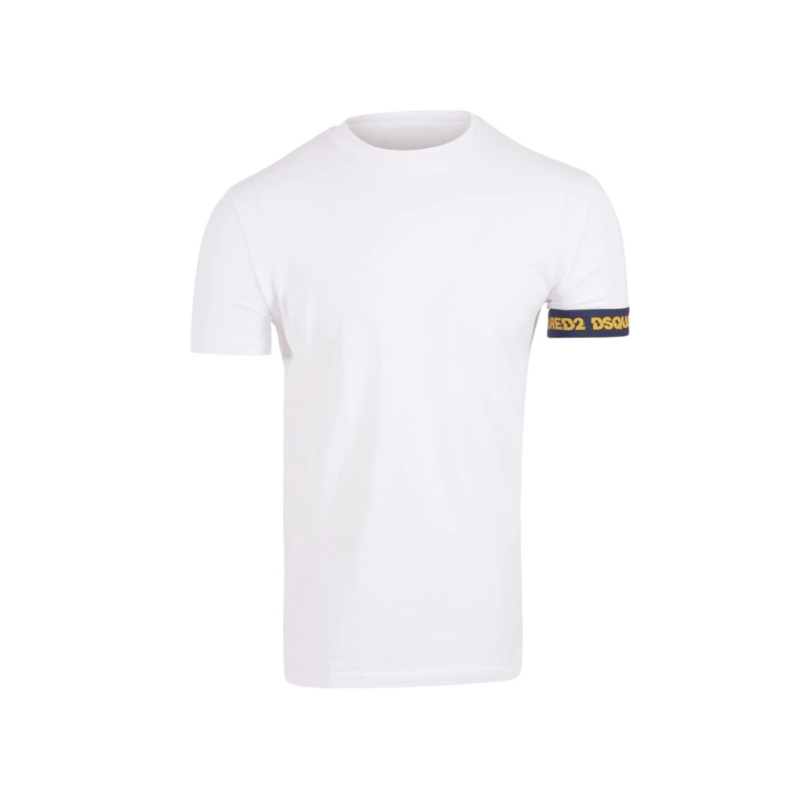 Dsquared2 - Band Tee - White/Blue/Yellow