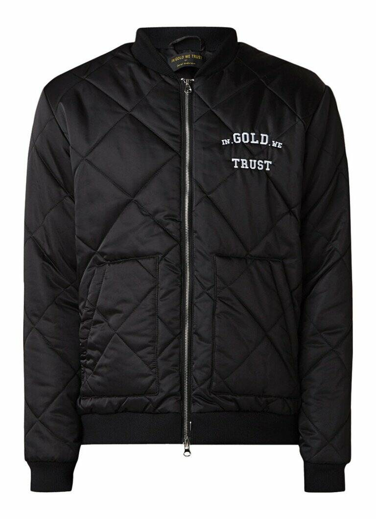 In Gold We Trust - Bomber Jacket - Black