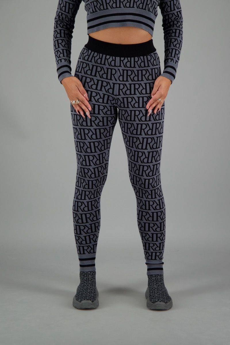 Reinders - RR Print Pants - Mental  Grey