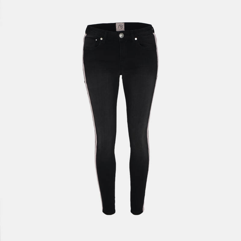 AB Lifestyle - Stipe Woman Denim Jeans - Black