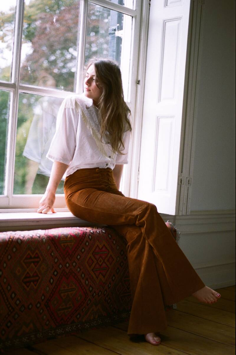 Suede 70s Bell-Bottoms
