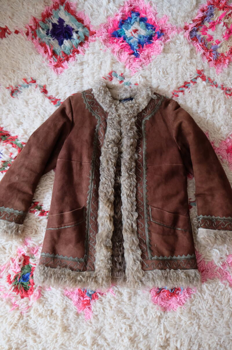 Afghan Embroidered Cropped Coat