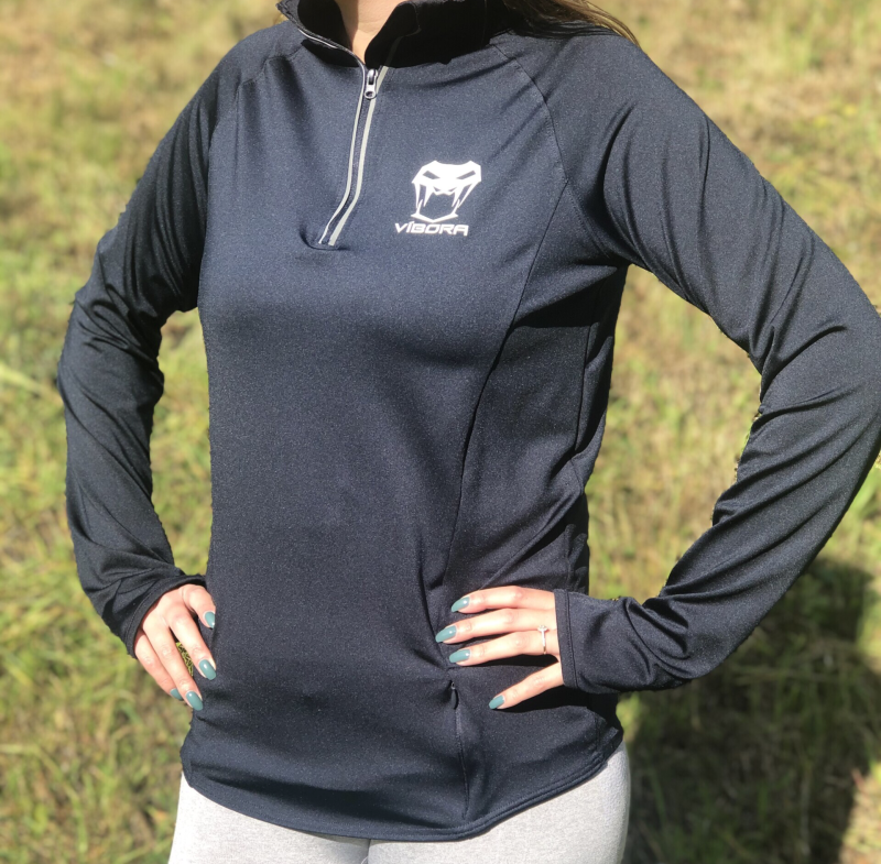 Womens Víbora 1/4 Zip - Navy