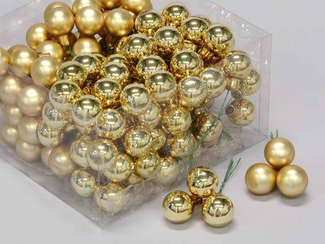 Bauble 144pcs. Gold Mix 25mm