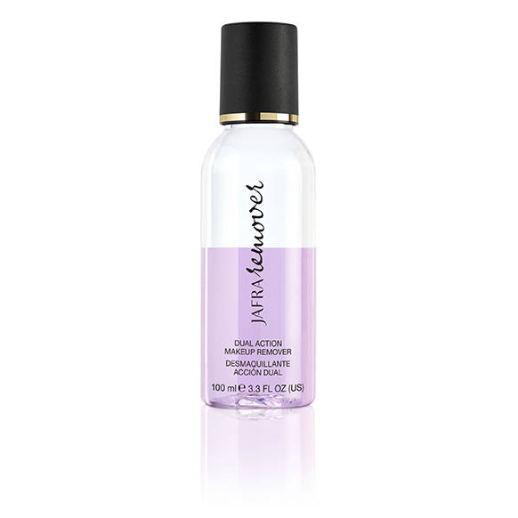 Dual action make-up remover