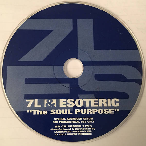 7L & Esoteric ‎– The Soul Purpose CD