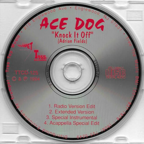 Ace Dog ‎– Knock It Off CD